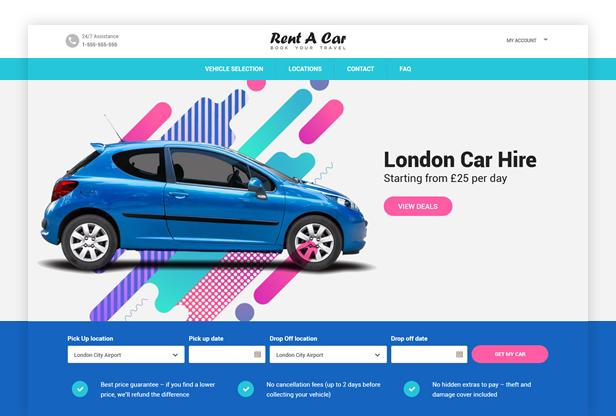 Rent A Car WordPress Theme