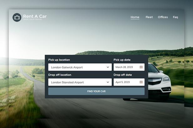 Rent A Car Booking WordPress Theme