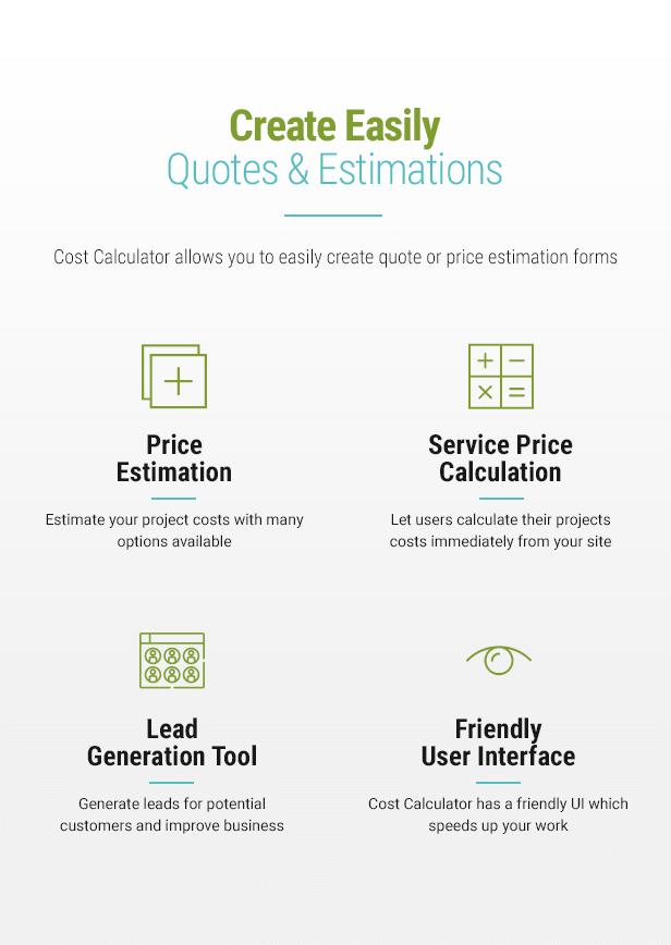 Cost Calculator WordPress Plugin - 3