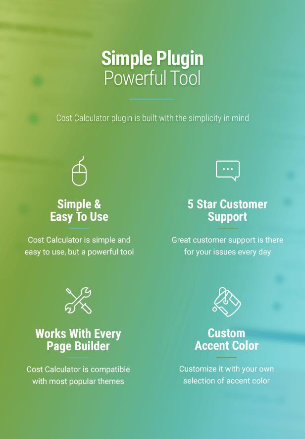 Cost Calculator WordPress Plugin - 4