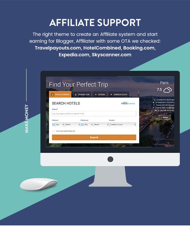 Travel Booking WordPress Theme - 26