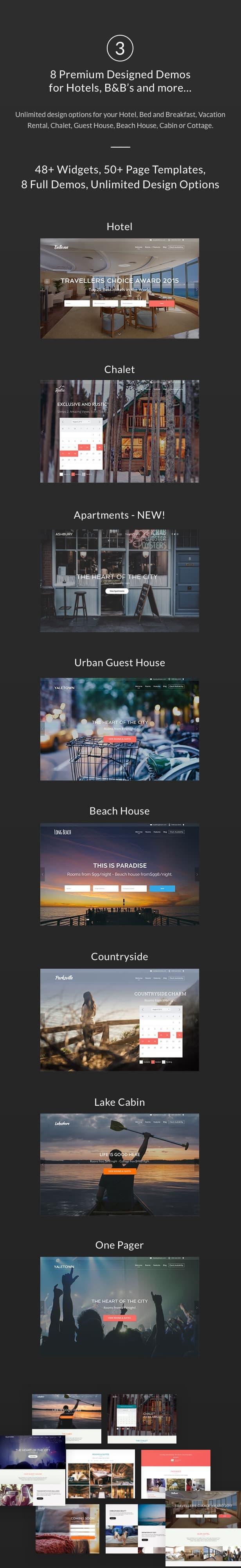Hotel + Bed and Breakfast Booking Calendar Theme | Bellevue - 4