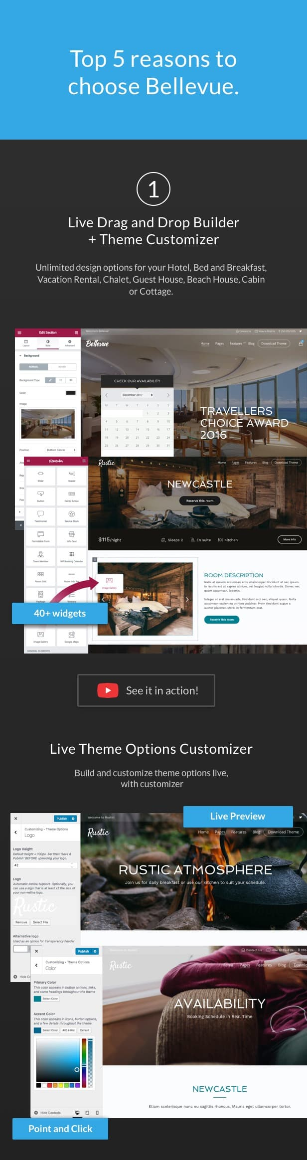 Hotel + Bed and Breakfast Booking Calendar Theme | Bellevue - 2