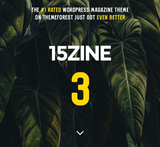 15zine is the ultimate WordPress magazine theme