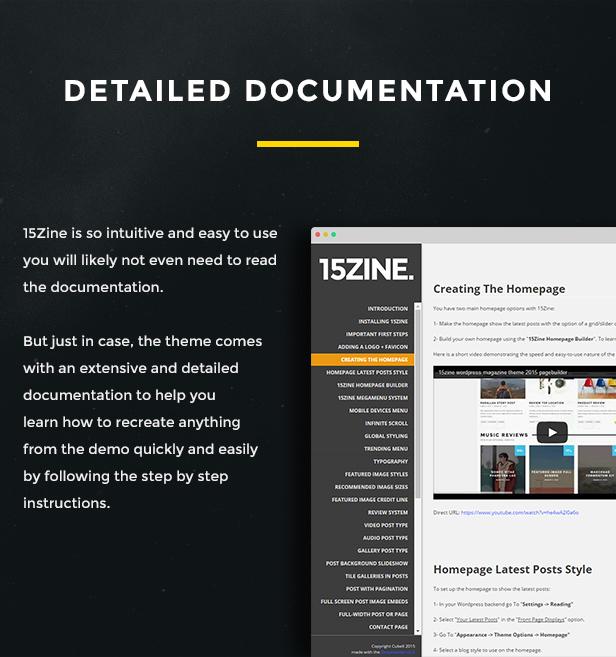 15Zine documentation screenshot