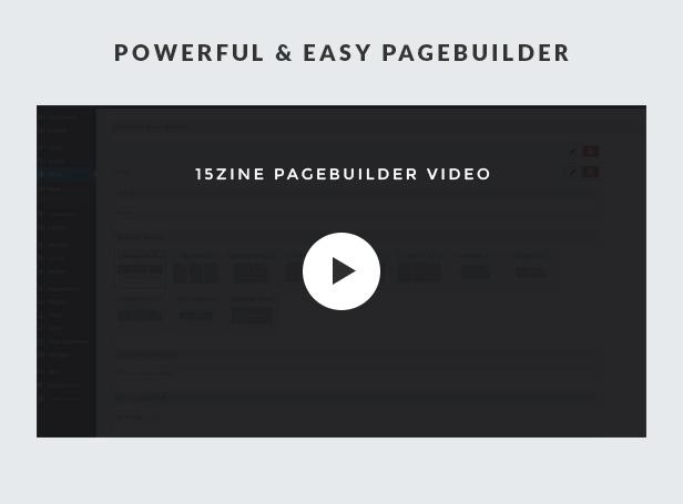 15Zine pagebuilder video