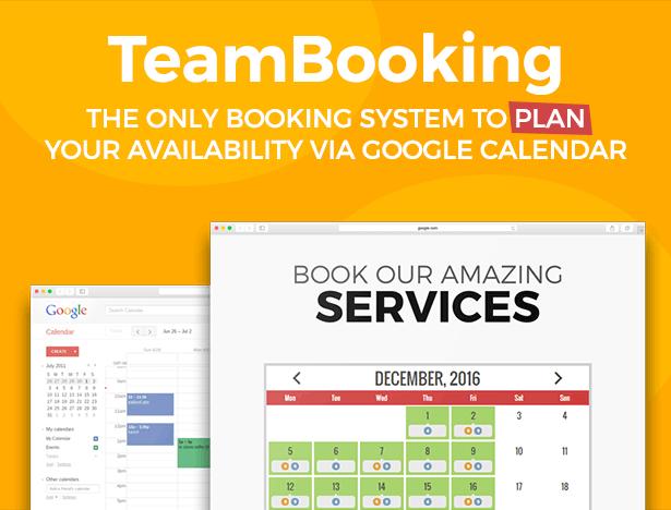 team booking wordpress plugin title
