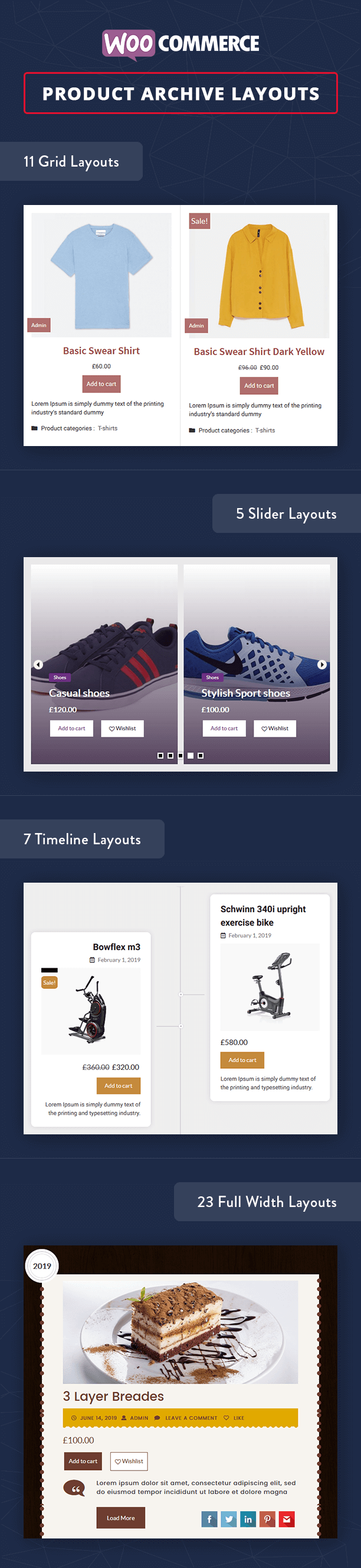 Blog Designer PRO WooCommerce archive page layouts