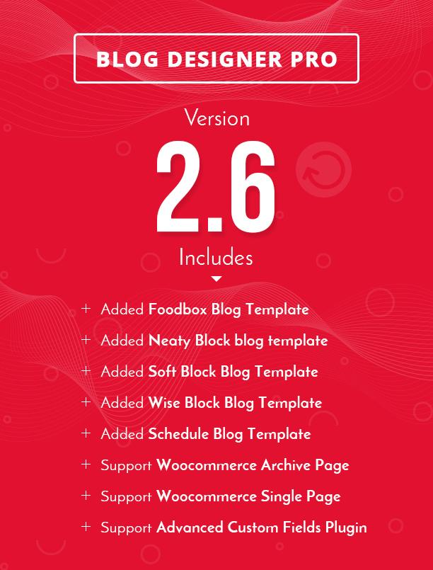 Blog Designer PRO supports WooCommerce