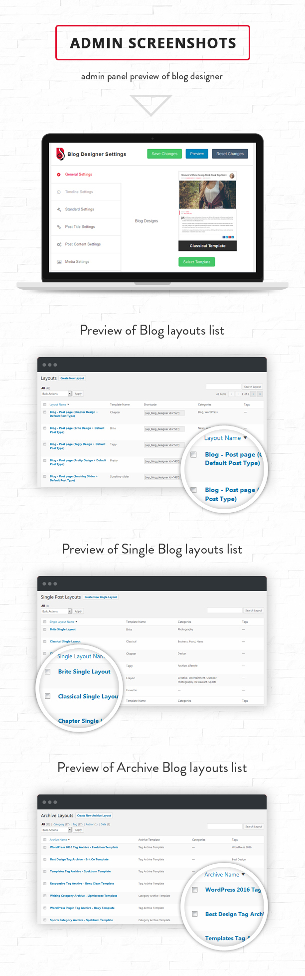 Blog Designer PRO Admin settings
