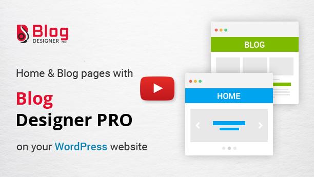 Blog Designer PRO supports multiple blog page