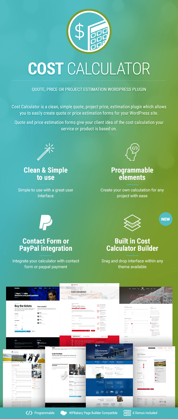 Cost Calculator WordPress Plugin - 1