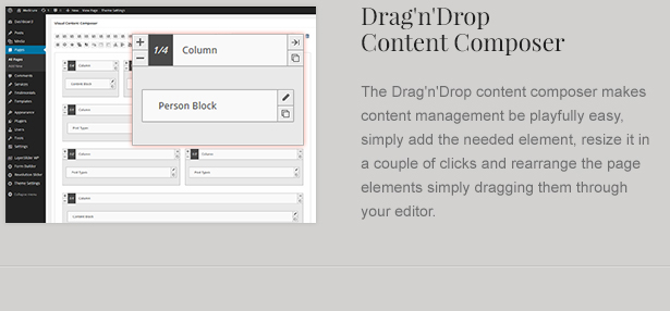 Visual Content Editor for Attorney Theme