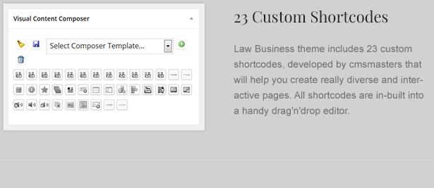 Custom Law Theme Shortcodes