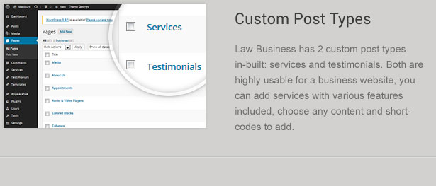 Custom Legal Post Types