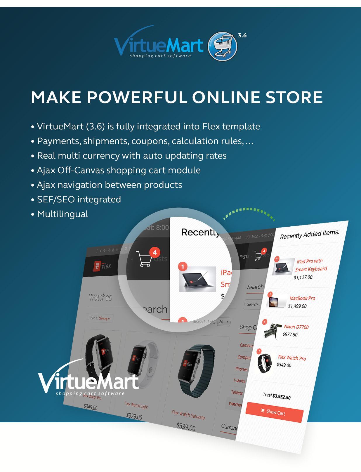 Flex - Most Flexible Joomla template with Virtuemart