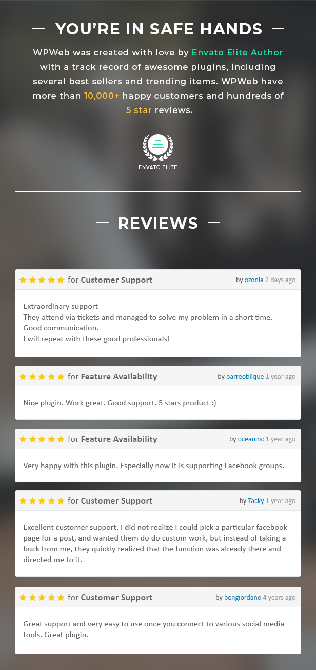Social Auto Poster Reviews