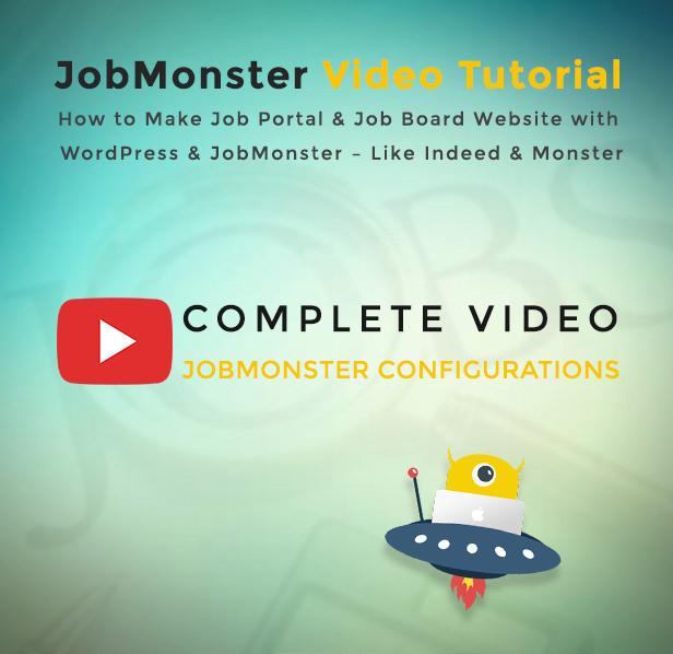 Jobmonster Job Board WordPress theme Video Tutorial