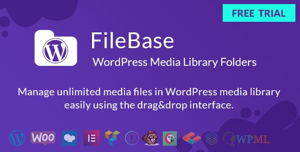 Ultimate Media Library Folders for WordPress - FileBase - CodeCanyon Item for Sale