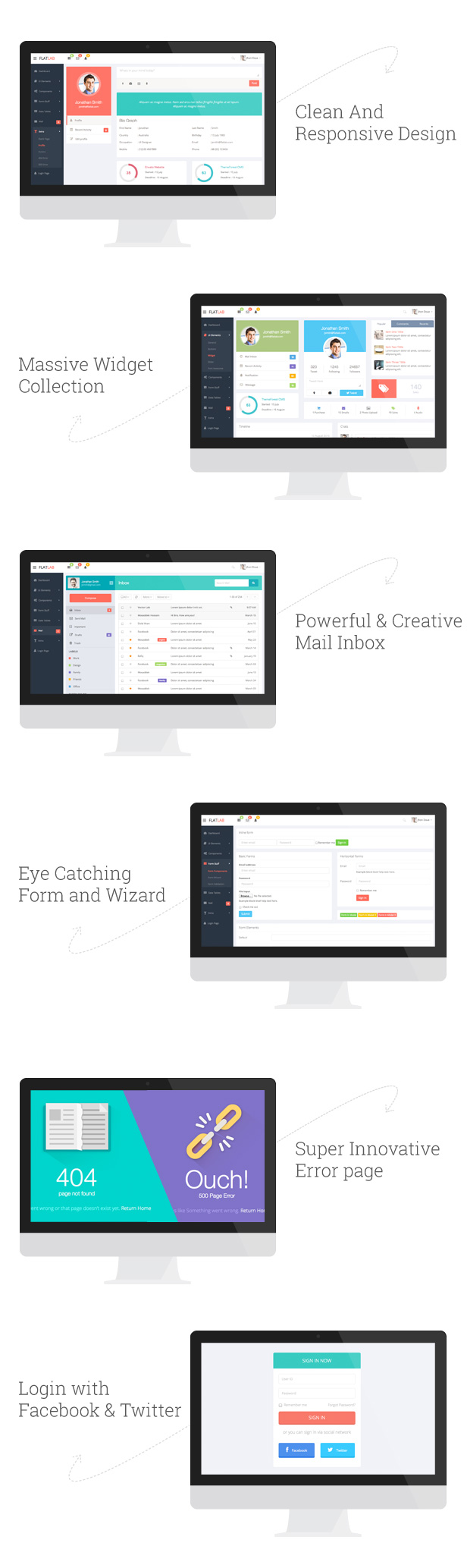 FlatLab - Bootstrap 4 Responsive Admin Template - 2