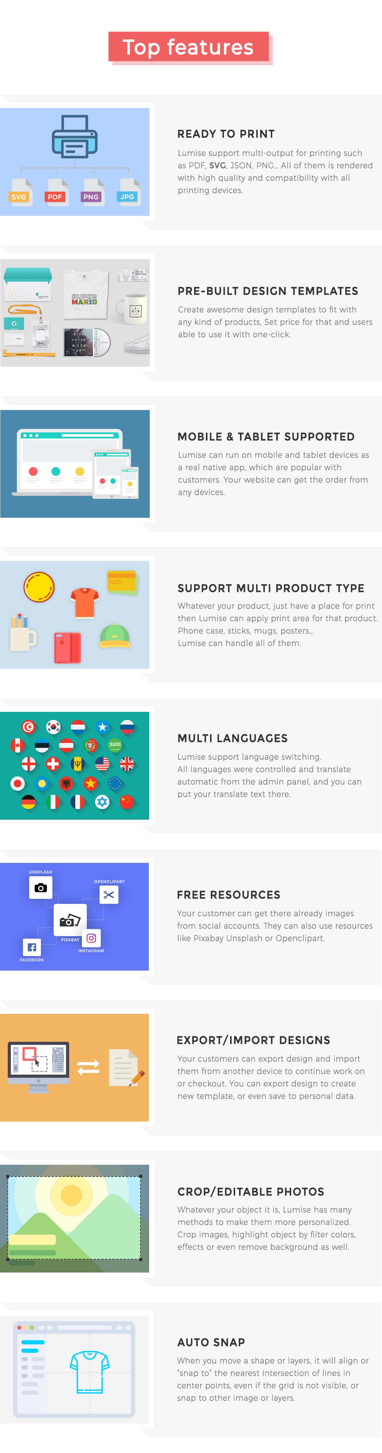 Product Designer for WooCommerce WordPress | LUMISE.COM - 23