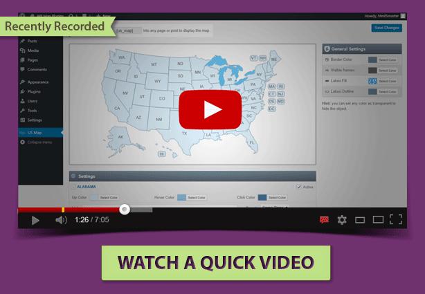 US Map WordPress plugin Tutorial