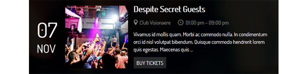 Clubber - Events & Music WordPress Theme - 2