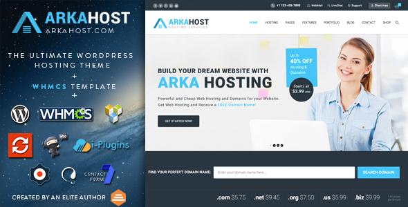 ArkaHost - WHMCS WordPress Theme
