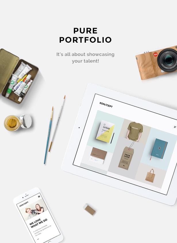 KON/CEPT - A Portfolio Theme for Creative People - 1