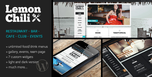LemonChili - A Restaurant WordPress Theme
