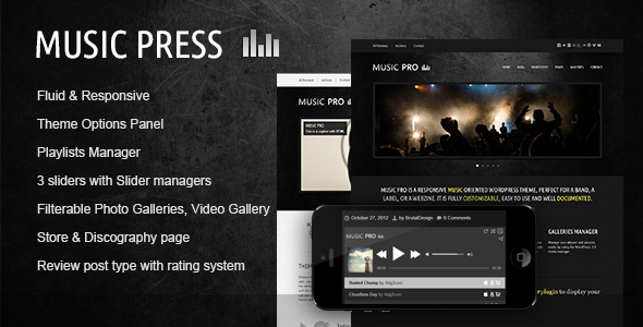 MusicPress - A Timeless Audio Theme