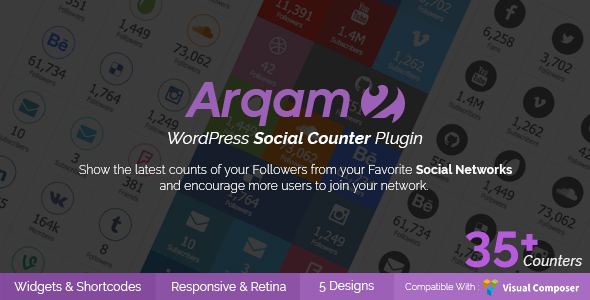 Social Counter Plugin for WordPress - Arqam