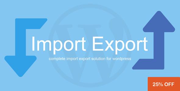 WordPress Import Export