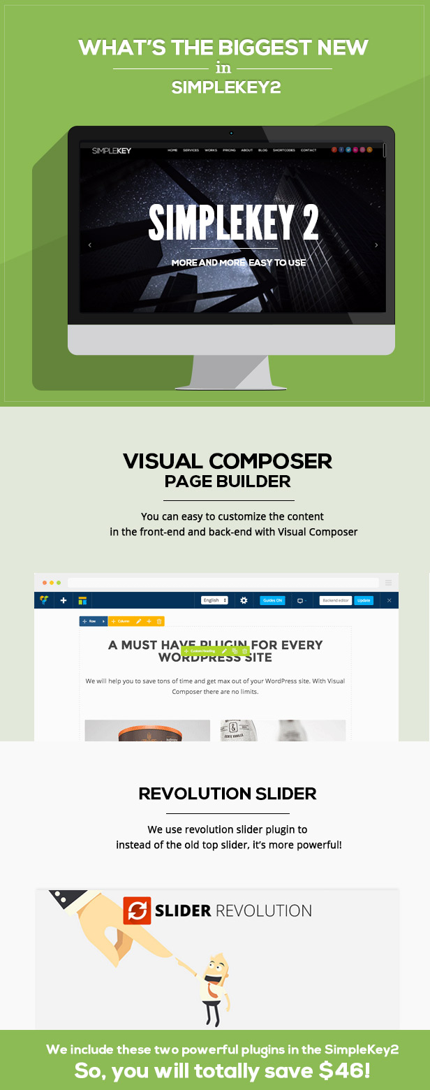 SimpleKey - One Page Portfolio WordPress Theme - 1