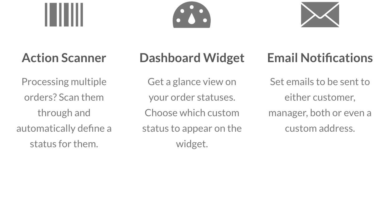 Scanner, Dashboard Widget and Email Notifications