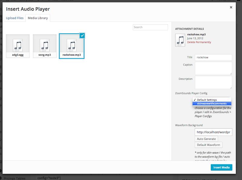 ZoomSounds - WordPress Wave Audio Player with Playlist - 8