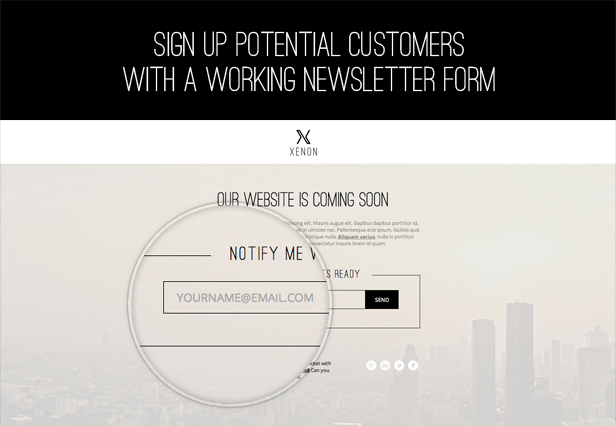 Sign up potential customers with a working newsletter form