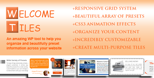 Welcome Tiles - Easy Responsive Multi-Purpose Grid - CodeCanyon Item for Sale