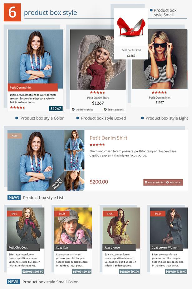 WooCommerce 4 product box style