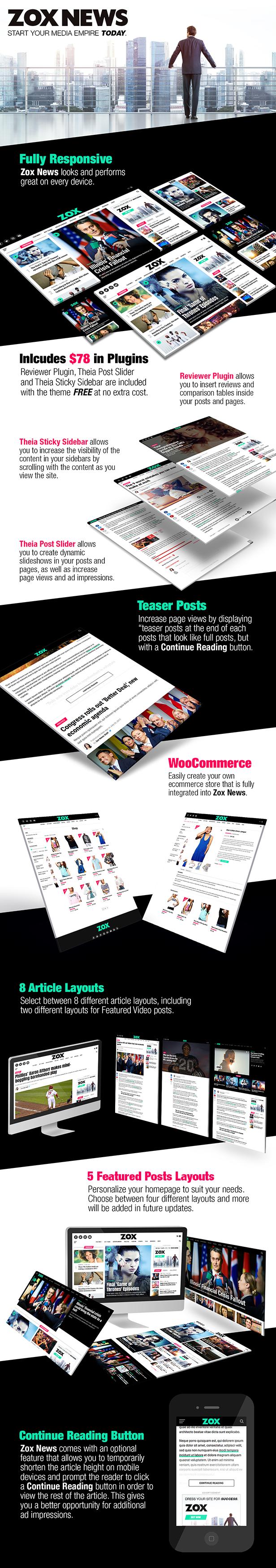 Zox News - Professional WordPress News & Magazine Theme - 2