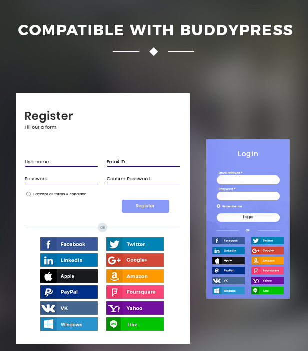 Compatible with BuddyPress