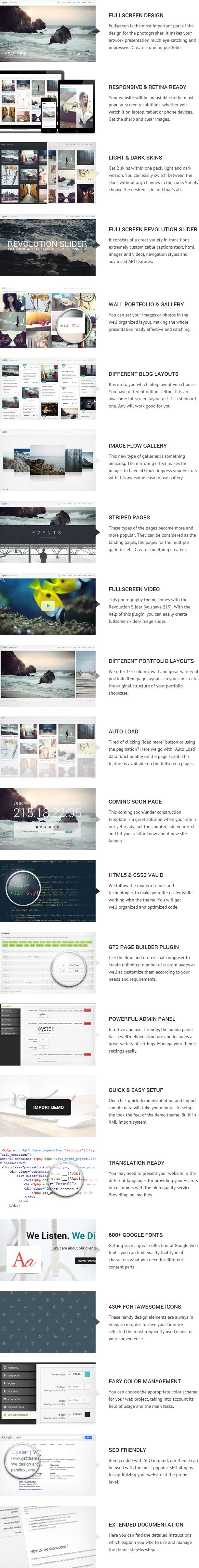 Photography Portfolio WordPress Theme - Oyster - 2