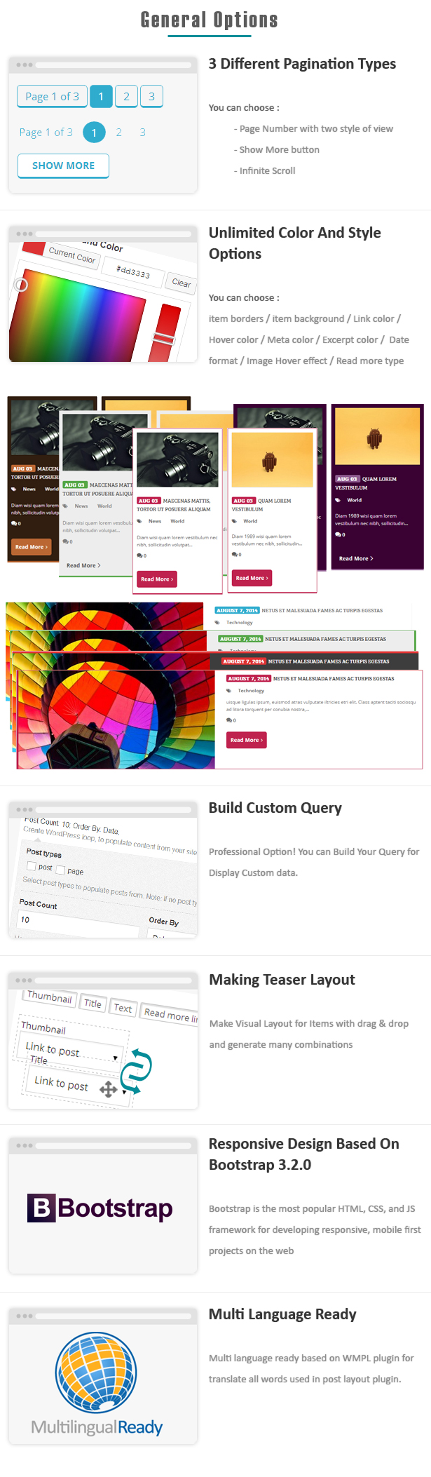 Advance Post Grid/List with custom filtering for Visual Composer - 5