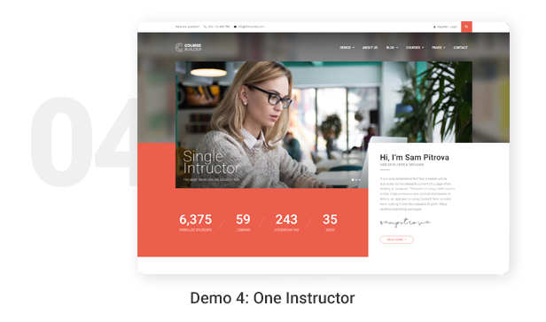 Demo 4: One Instructor