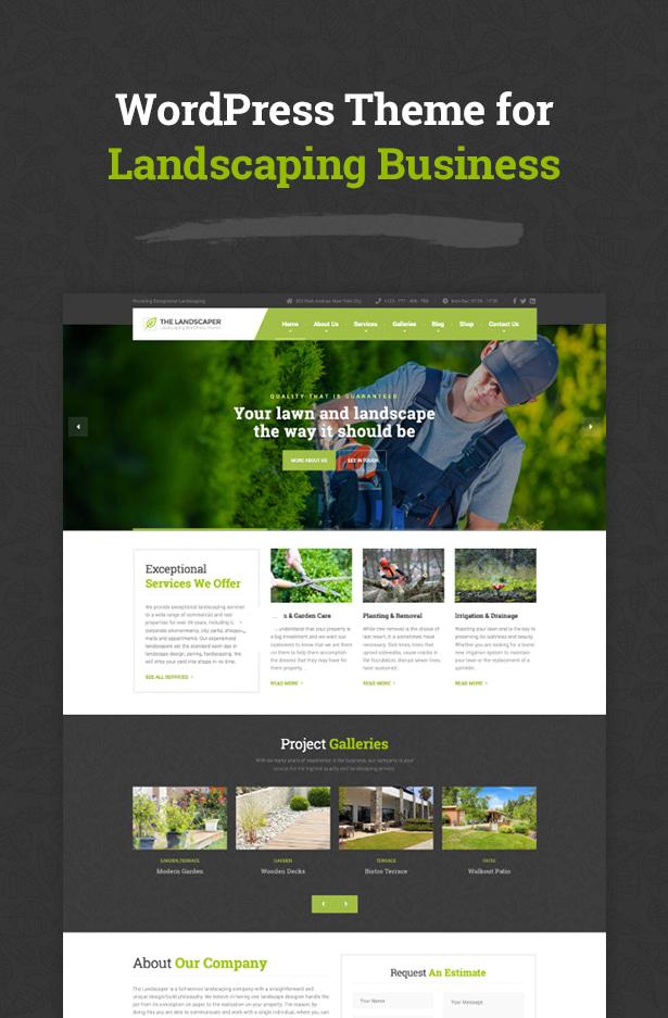 The Landscaper - Landscaping WordPress theme