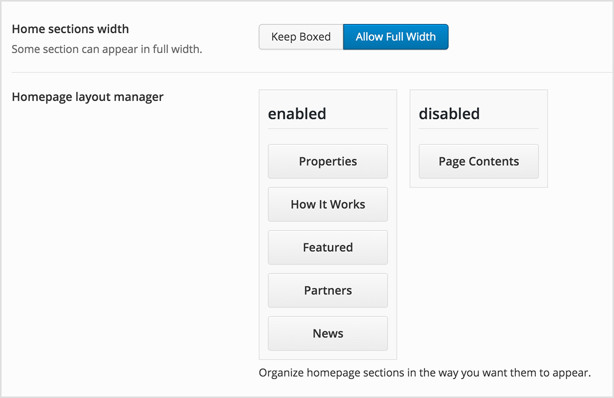Drag & Drop Layout Manager for Home Page