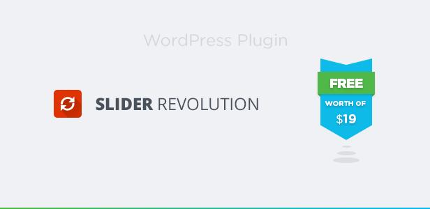 Revolution Slider Plugin Included