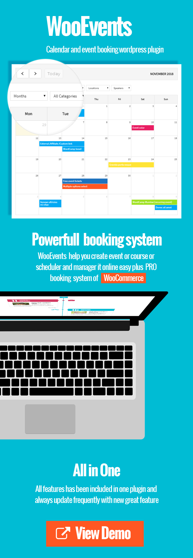 WooEvents -  Calendar and Event Booking - 2