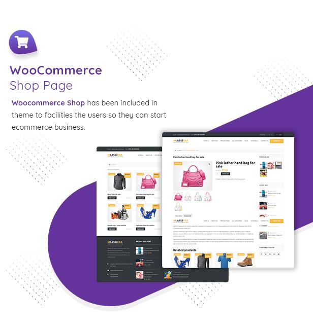 WooCommerce shop in classiera