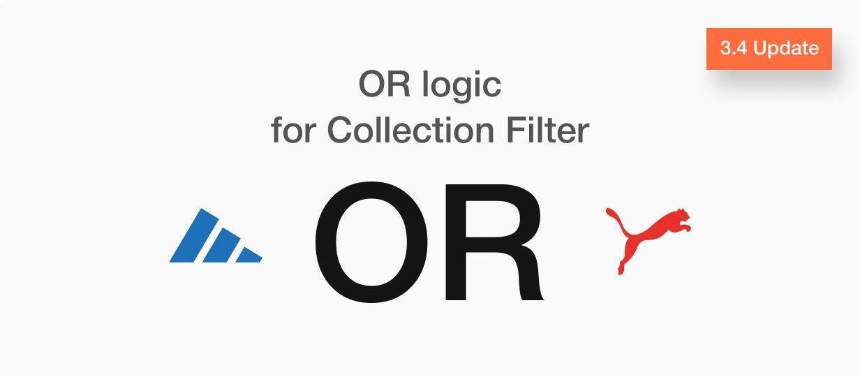 Update 3.4 OR logic for collection page filter